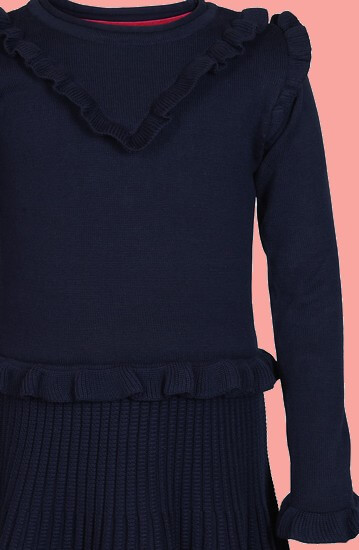 Kindermode Le Big Winter 2020/21 Le Big Kleid / Strickkleid Tya navy #234