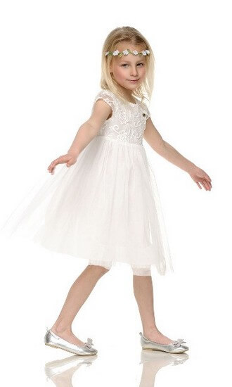 Kindermode Le Chic PreSpring 2017 Le Chic Kleid off white #5830
