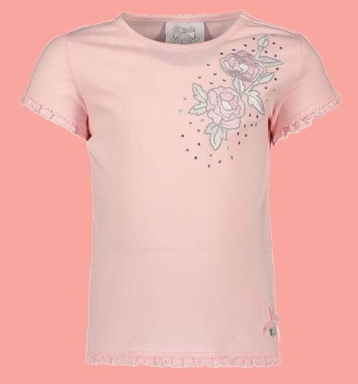 Kindermode Le Chic Sommer 2018 Le Chic T-Shirt Flower pink crystal #5432