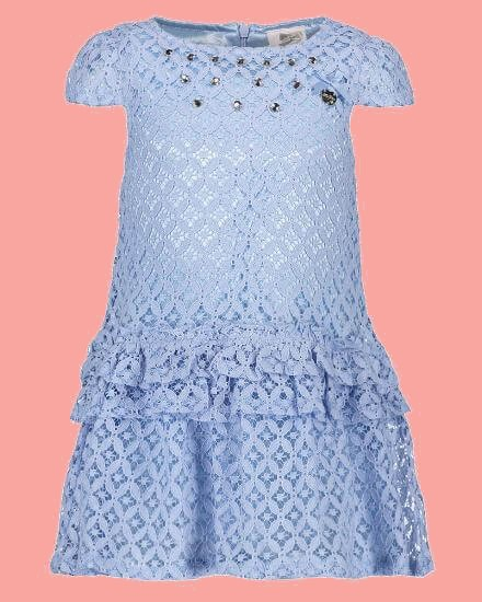Kindermode Le Chic Sommer 2018 Le Chic Kleid Fancy Lace morning blue #5803