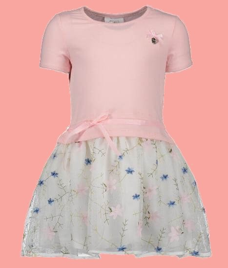 Kindermode Le Chic Sommer 2018 Le Chic Kleid Flowers pink crystal #5831