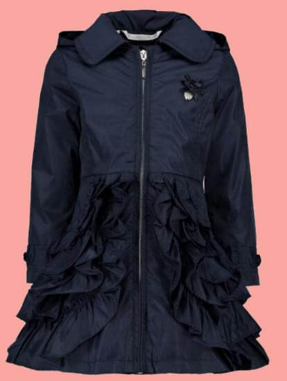 Kindermode Le Chic PreSpring 2018 Le Chic Jacke Ruffles blue navy #5200