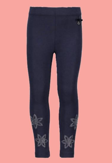 Kindermode Le Chic PreSpring 2018 Le Chic Leggings Flower blue navy #5510
