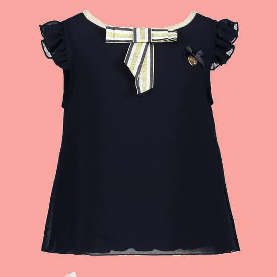 Kindermode Le Chic PreSpring 2019 Le Chic Top / T-Shirt Fancy Voile blue navy #5102