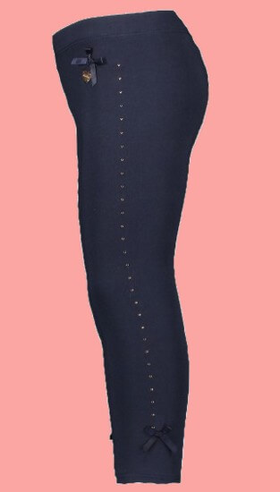 Kindermode Le Chic PreSpring 2019 Le Chic Leggings Rhinestones blue navy #5500