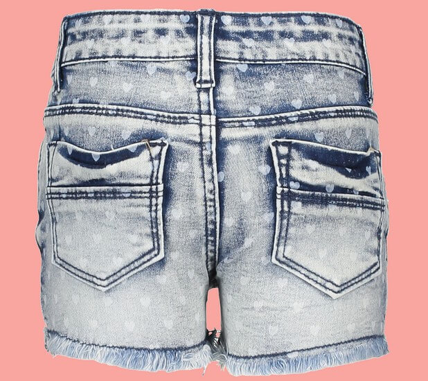 Kindermode Le Chic Sommer 2019 Le Chic Hotpants / Shorts Hearts denim #5683
