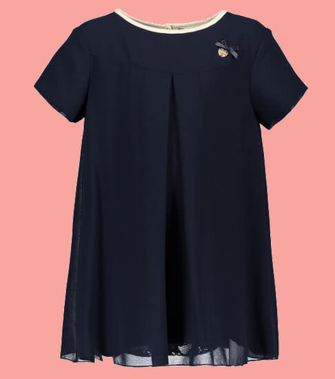 Kindermode Le Chic PreSpring 2019 Le Chic Kleid Fancy Voile blue navy #5802