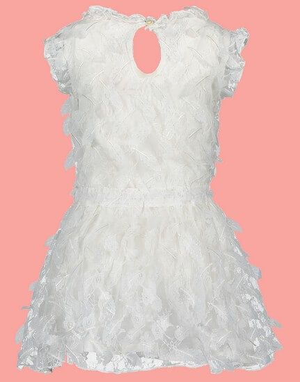 Kindermode Le Chic Sommer 2019 Le Chic Kleid Leaf Lace Off White #5813