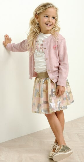 Kindermode Le Chic Sommer 2020 Le Chic Jacke / Cardigan Hearts pink #5300