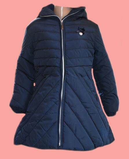 Kindermode Le Chic Winter 2017/18 Le Chic Winterjacke / Mantel blue navy #5200