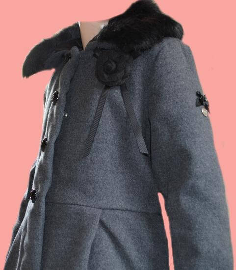 Kindermode Le Chic Winter 2017/18 Le Chic Winterjacke / Mantel black melee #5230