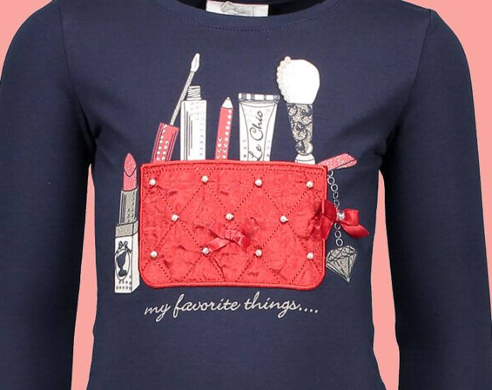 Kindermode Le Chic Winter 2017/18 Le Chic Shirt Bag blue navy #5415