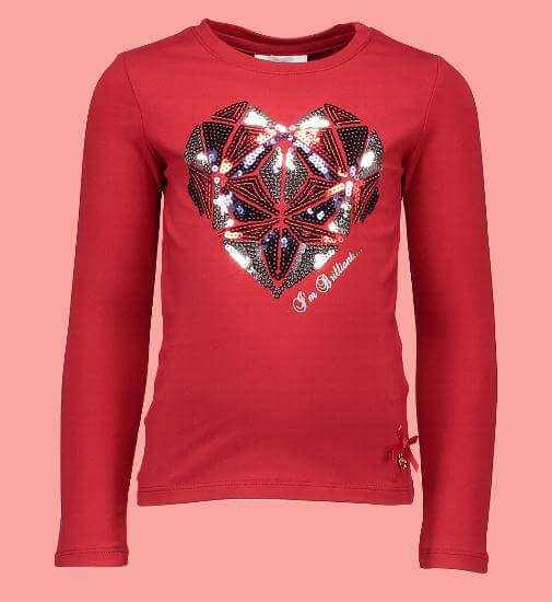 Kindermode Le Chic Winter 2017/18 Le Chic Shirt Big Heart red #5417