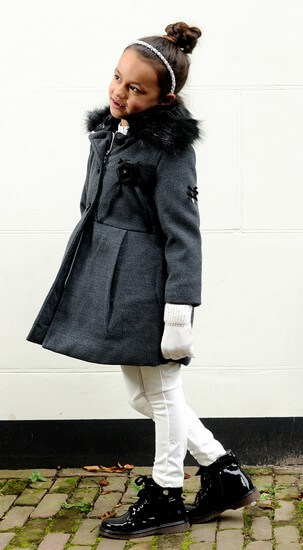 Le Chic Winterjacke / Mantel black melee #5230