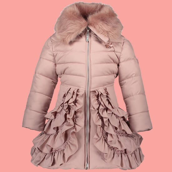 Le Chic Jacke / Winterjacke Ruffles pink dawn #5202 von Le Chic Winter 2018/19