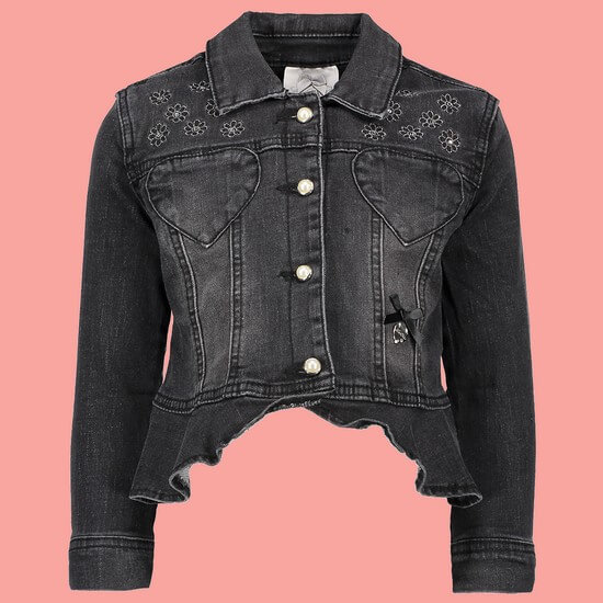 Le Chic Jacke / Jeansjacke Heart Pocket black denim #5185 von Le Chic Winter 2018/19