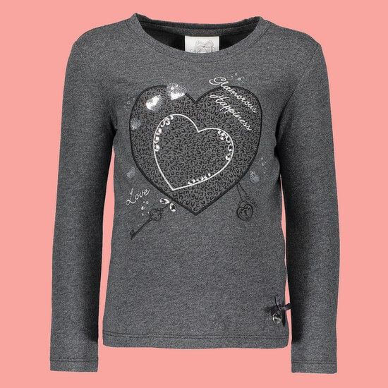 Le Chic Shirt Big Heart anthrazit #5402 von Le Chic Winter 2018/19