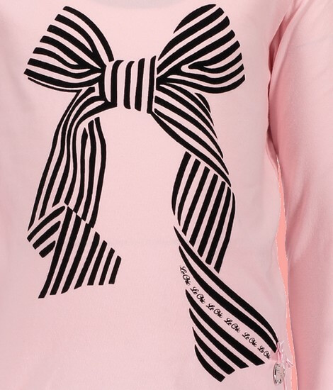 Kindermode Le Chic Winter 2018/19 Le Chic Shirt Big bow Artwork pink crystal #5410