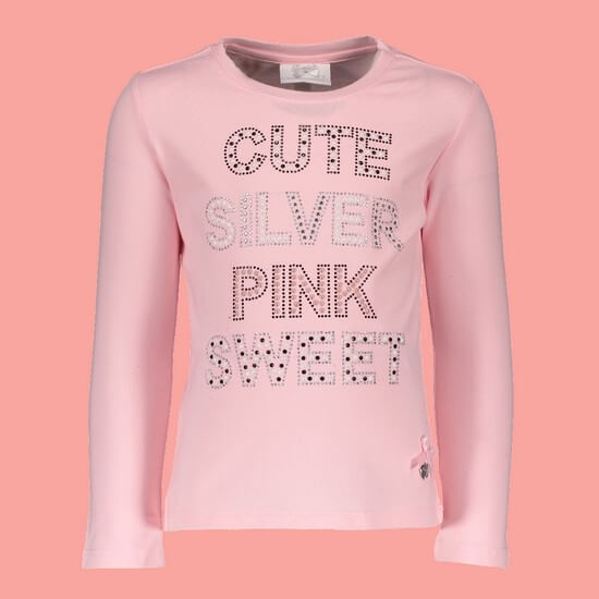 Le Chic Shirt Cute Silver Sweet pink crystal #5412 von Le Chic Winter 2018/19