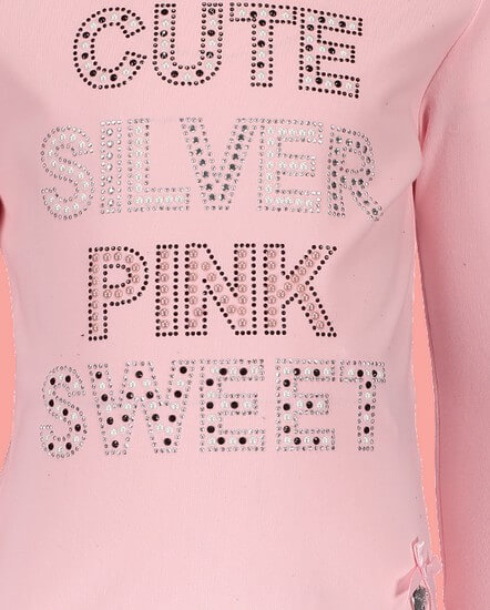 Kindermode Le Chic Winter 2018/19 Le Chic Shirt Cute Silver Sweet pink crystal #5412