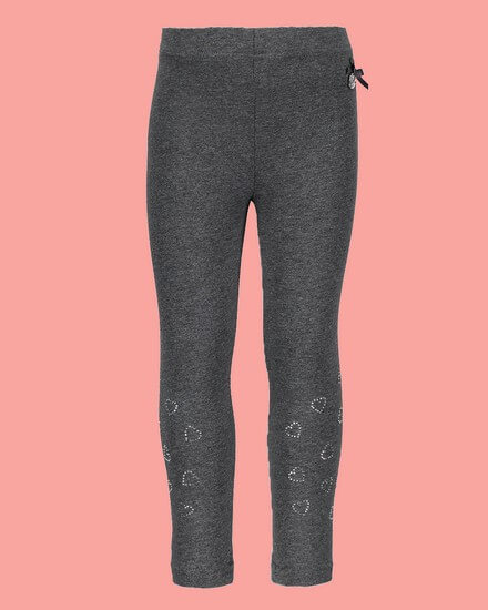 Le Chic Leggings Rhinestones Hearts anthrazit #5510 von Le Chic Winter 2018/19