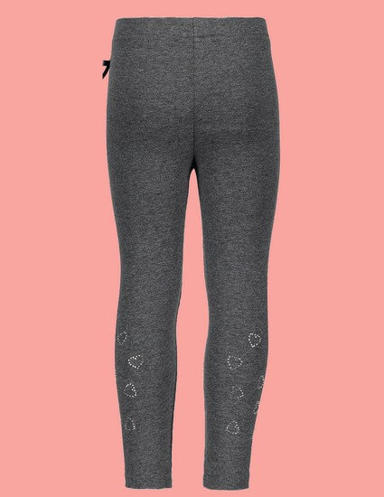 Kindermode Le Chic Winter 2018/19 Le Chic Leggings Rhinestones Hearts anthrazit #5510