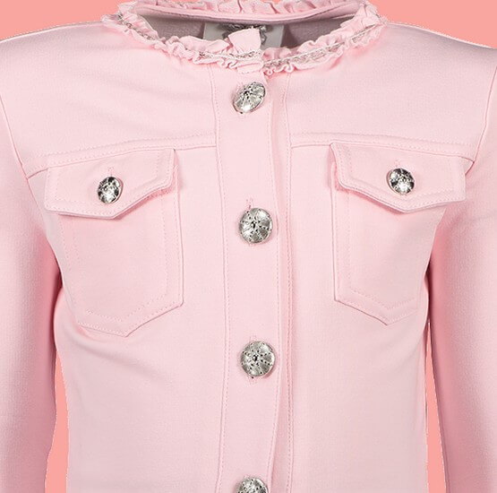 Kindermode Le Chic Winter 2018/19 Le Chic Jacke / Sweatjacke pink crystal #5161
