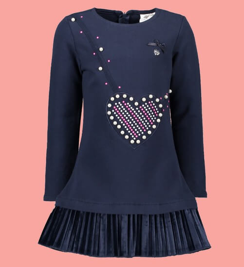Le Chic Kleid / Sweatkleid Heart blue navy #5834 von Le Chic Winter 2018/19
