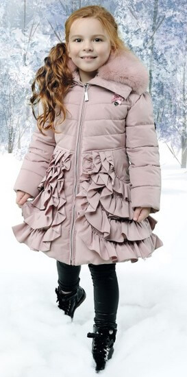 Kindermode Le Chic Winter 2018/19 Le Chic Jacke / Winterjacke Ruffles pink dawn #5202