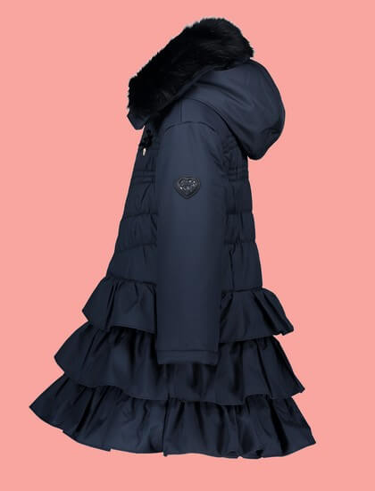 Kindermode Le Chic Winter 2019/20 Le Chic Winterjacke / Mantel Doll Luxury blue navy #5214
