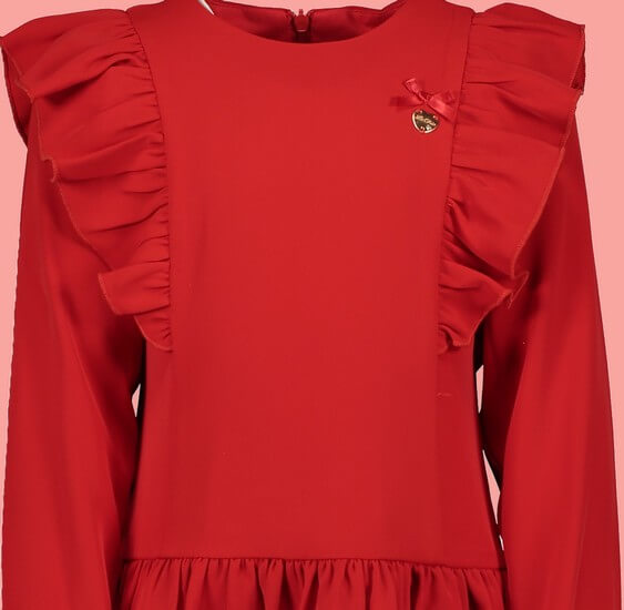 Kindermode Le Chic Winter 2019/20 Le Chic Kleid mit Volant red #5832