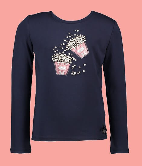 Kindermode Le Chic Winter 2020/21 Le Chic Shirt Popcorn navy #5407
