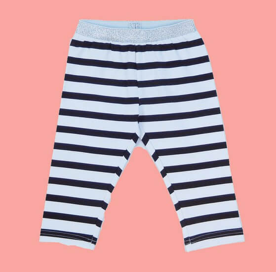 Kindermode LoveStation22 Sommer 2020 LoveStation22 3/4 Leggings stripes greywhite #9112