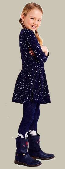 Mim-Pi Kleid Stars blue #77 Winter 2018/2019