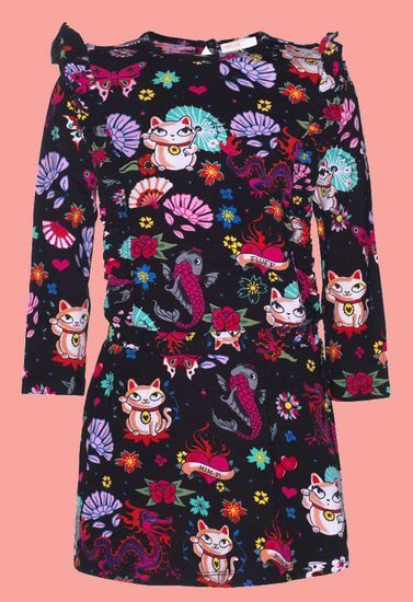 Mim-Pi Kleid Happy Cat #1000 von Mim-Pi Winter 2019/20
