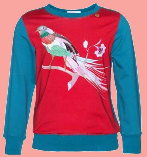 Kindermode Vorbestellung Mim-Pi Winter 2019/20 Mim-Pi Shirt Bird red #1049