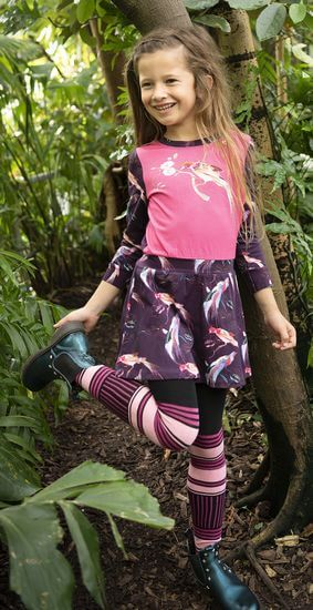 Mim-Kleid Birds pink #1065 Herbst/Winter 2019/2020