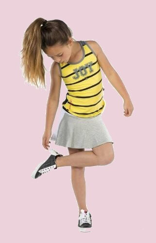 Kindermode Ninni Vi Sommer 2017 Ninni Vi Top small stripe yellow #01