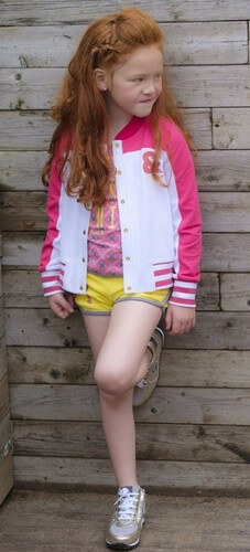 Ninni Vi T-Shirt pink #05 mit Hotpants / kurze Hose Terry yellow #26