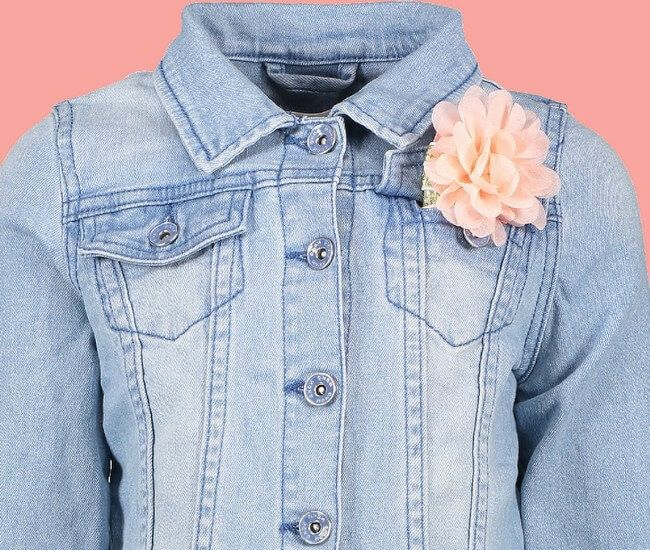 Kindermode Nono Early Spring 2019 Nono Jacke / Jeansjacke mit Haarband denim blue #5308