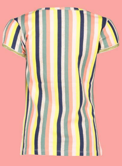 Kindermode Nono Sommer 2019 Nono T-Shirt Kamsi stripes light lemon #5406