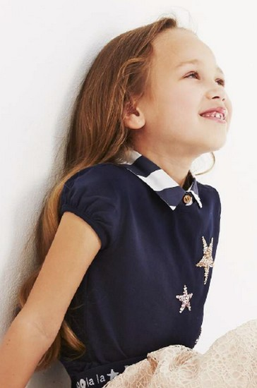 Kindermode Nono Early Spring 2019 Nono T-Shirt Kamsu Stars navy #5410