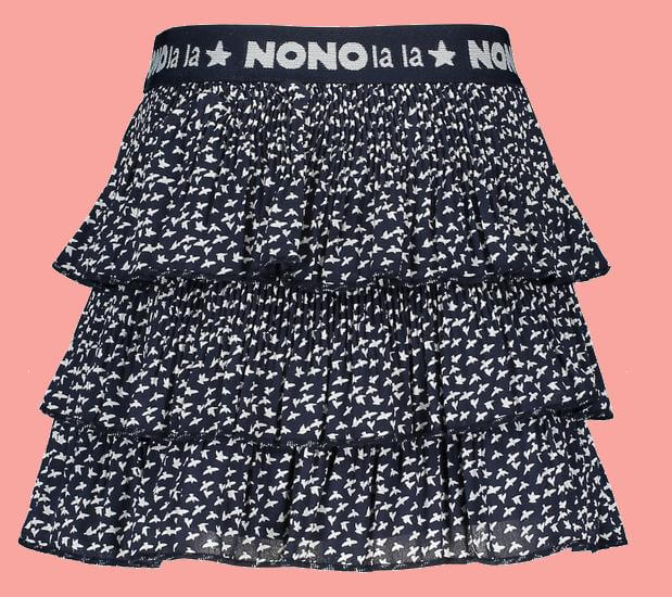 Kindermode Nono EarlySpring 2020 Nono Rock / Volantrock Nik Birds navy #5701