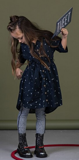 Kindermode Nono Winter Nono Kleid Maya navy #5801