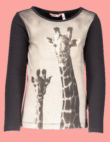 Kindermode Nono Winter Nono Shirt Kuss Giraffe moonless night #5405