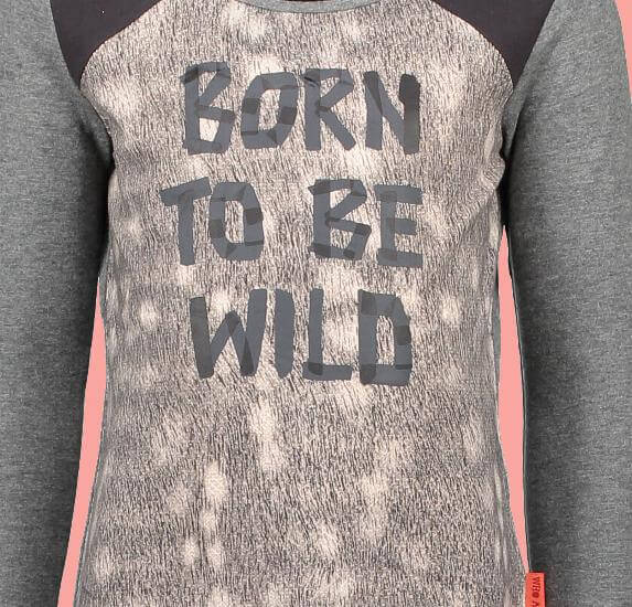 Kindermode Nono Winter Nono Shirt Kus Born to be wild dark grey melee #5412