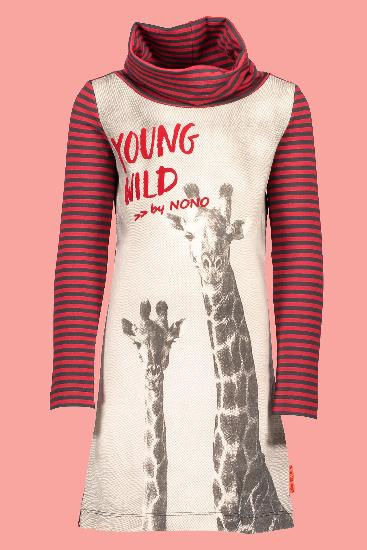 Kindermode Nono Winter Nono Kleid Molly Giraffe wine red #5810