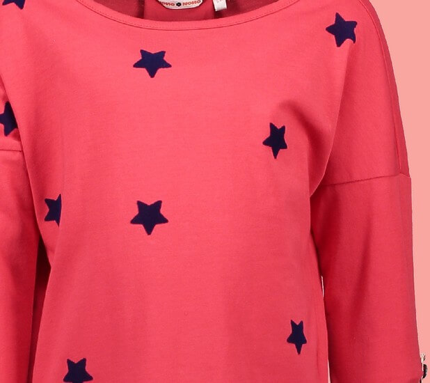 Kindermode Nono Winter 2018/19 Nono Shirt Komu Stars bright red #5404
