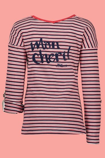 Kindermode Nono Winter 2018/19 Nono Shirt Keira twistable navy/red stripes #5407