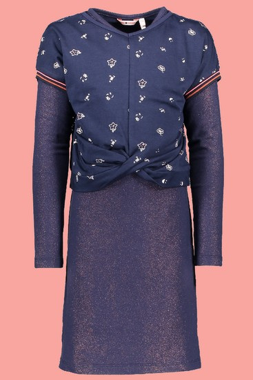 Kindermode Nono Winter 2018/19 Nono Kleid 2teilig Maan sparkle navy #5809